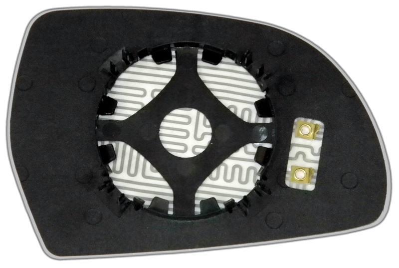 Зеркальный элемент (стекло зеркала) Ауди А3 8P левый асферический с обогревом(09-12г.)