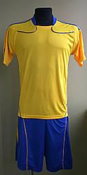 Футбольная форма взрослая желто-синяя