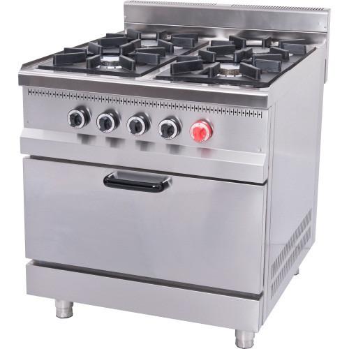 Плита промышленная M015-4 Pimak с духовым шкафом и газовым контроллеро