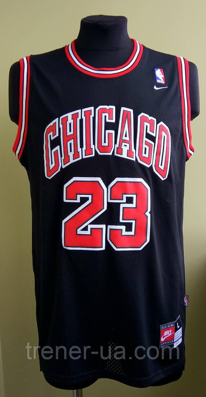 996a2a71 Мужская баскетбольная майка черная Chicago Buls Jordan в стиле Nike НБА