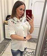 Красивая белая блузка рубашечного стиля , фото 1