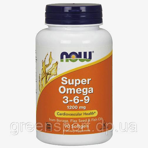 Жирные кислоты Now Foods Omega-3-6-9 (90 софтгель)