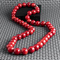 Коралл красный, Ø7 мм., бусы, 357БСК, фото 1