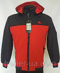 Ветровка мужская в стиле Adidas красно-синяя короткая