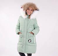 Детское зимнее пальто для девочки ANERNUO 17152, 130-170