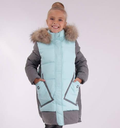 Детское зимнее пальто для девочки ANERNUO 17196, 130-170