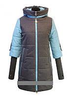 """Детское демисезонное пальто  для девочки """"Anernuo""""  17101,130-140"""