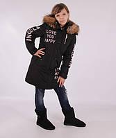 Детское зимнее пальто-парка для девочки ANERNUO 17147, 130-170