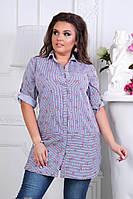 Рубашка женская. 52,54, 56рр софт-котон. , фото 1