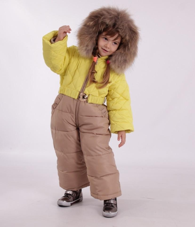 Детский зимний комбинезон с шарфиком, варежками для девочки New Soon 2804, 74-86