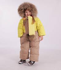 Детский зимний комбинезон с шарфиком, варежками для девочки New Soon 2804, 74-86, фото 2