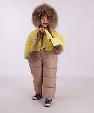 Детский зимний комбинезон с шарфиком, варежками для девочки New Soon 2804, 74-86, фото 3