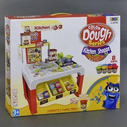 """Детский Столик с набором для лепки """"Кухня"""" (тесто) арт. 8725,свет, звук, на батарейке"""