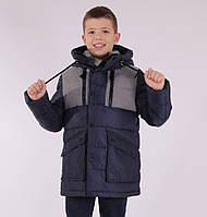 Детская зимняя куртка  для мальчика от ANERNUO 1781 с натуральным мехом, от 130 по 170