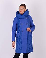 Пальто с варенной шерстью женское зимнее 3043 размер 46-54, фото 3