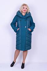Пальто с варенной шерстью женское зимнее 3043 размер 46-54, фото 2
