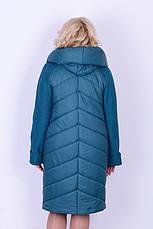 Пальто з вареної шерстю жіноче зимове 3043 розмір 46-54, фото 3