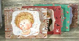 """Пакет подарочный бумажный """" Гапчинская """"  24*32*9 см.  МИКС картинок"""