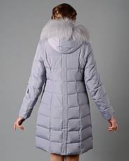 Пуховик женский зимний, натуральный пух 3401 размер 44-54, фото 2