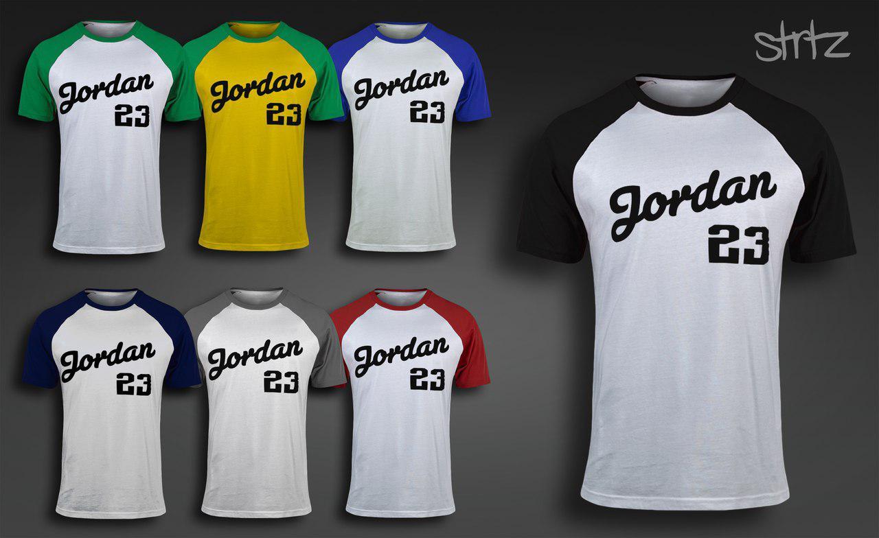 Футболка от известного баскетболиста из хлопка реглан майкл джордан Jordan  23 -