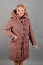 Пальто женское зимнее 3589 размер 50-60, фото 3