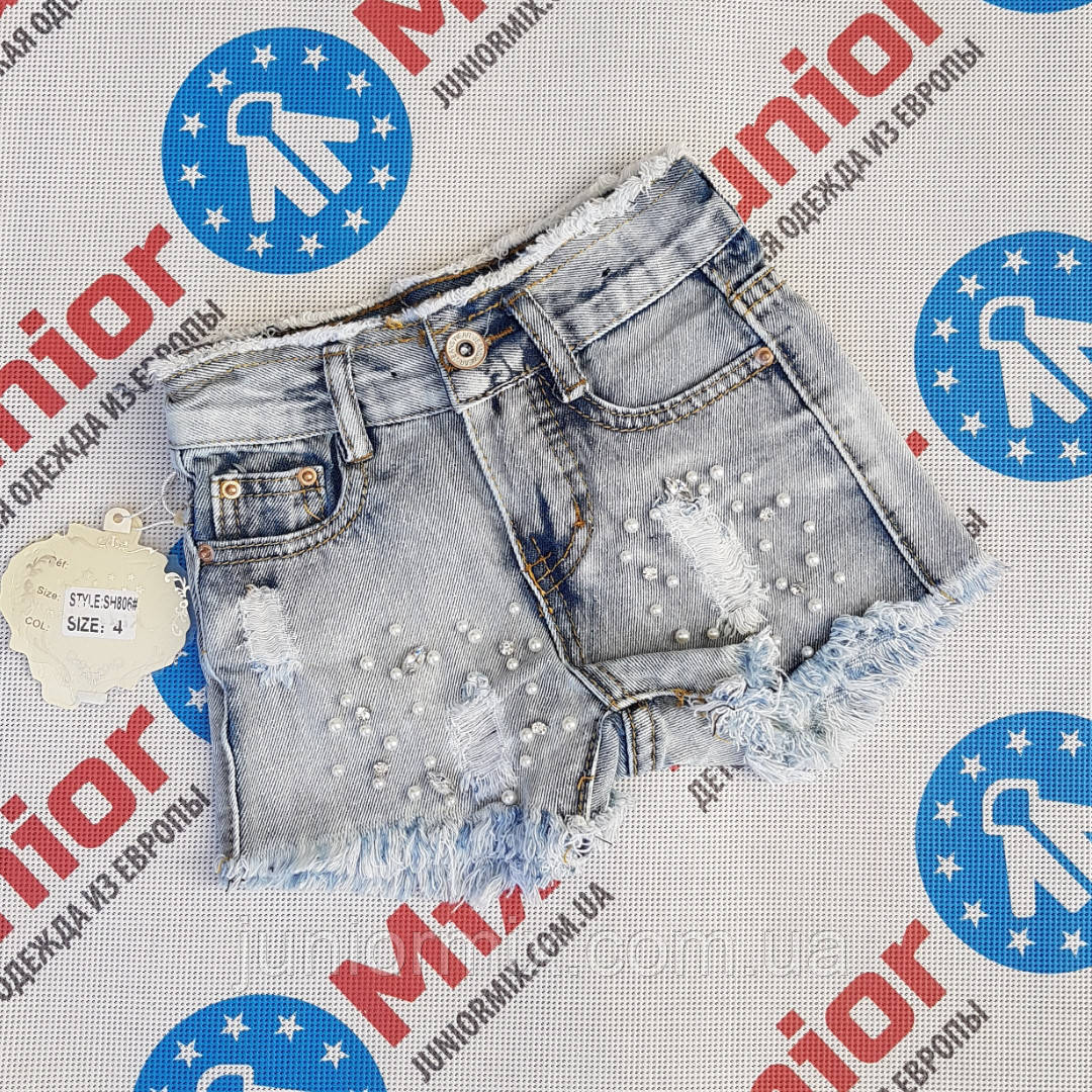 Детские джинсовые  шорты для девочек оптом