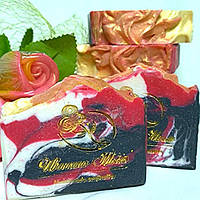 """Мыло подарочное натуральное ручной работы для мужчин с маслом ши """"Черный галстук""""."""