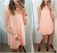 Платье с жемчугом в расцветках 24222, фото 1