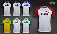 Мужская футболка летняя реглан пума Puma