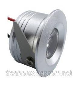 Светильник  точечный мини LED LD- 3W 3000K серебро