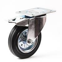 Колесо поворотное с тормозом 160 мм для тележек (Польша)