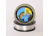 Ліска Klin 0,25mm. 5,2kg.100m. кол. прозора ТМКЛІНСЬКА