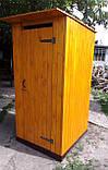 Туалет деревянный из имитации бруса (обшивка вертикально), фото 2
