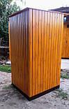 Туалет деревянный из имитации бруса (обшивка вертикально), фото 3