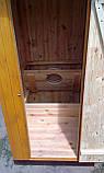 Туалет деревянный из имитации бруса (обшивка вертикально), фото 5