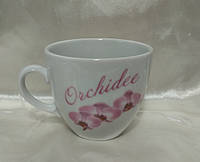 """Чашка Фарфор 250мл. """"Янтарь"""" Орхидея, фото 1"""
