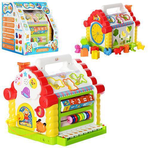 Логічна розвиваюча музична іграшка-сортер Теремок 9196: 8 мелодій, 8 функцій
