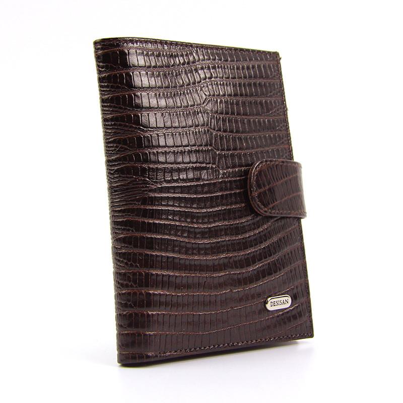 Обложка для прав кожаная купюры, карты коричневая Desisan 101-142 Турция