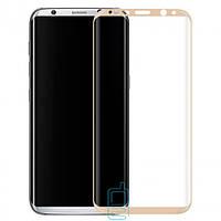 Защитное стекло Samsung S8 Plus G955 3D gold тех.пакет