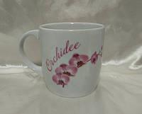 "Чашка Фарфор 350мл. ""Янтарь"" Орхидея"