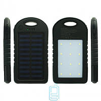 Solar Charger Power Bank A50 10000 mAh + 12 LED черный