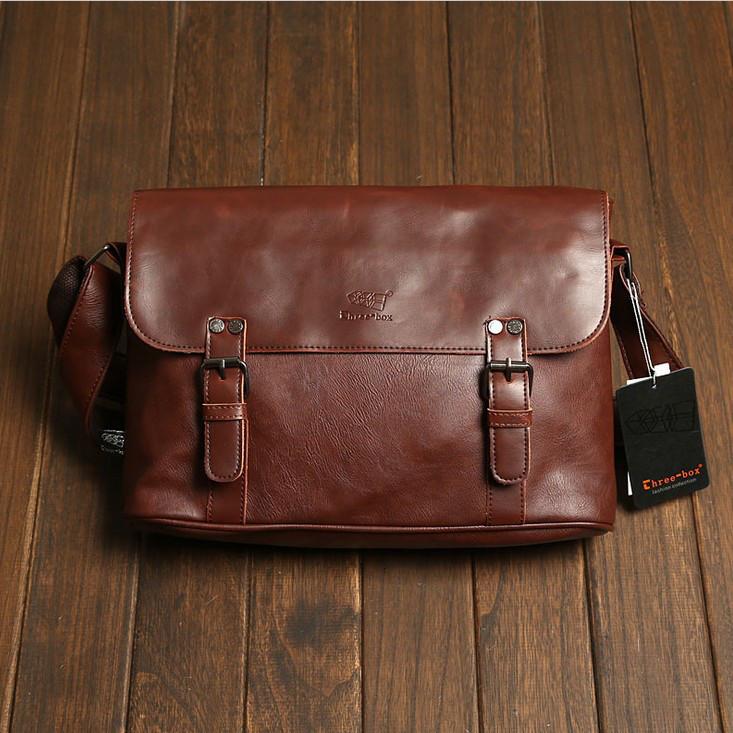 Мужская кожаная сумка-портфель. Модель с10