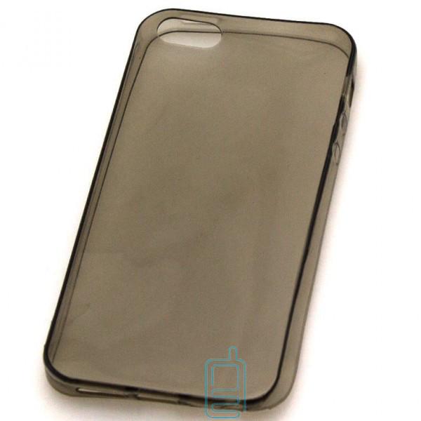 Чехол силиконовый Premium Apple iPhone 5 затемненный
