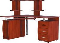 Угловой компьютерный стол СКУ-02 + Н-12 с надставкой, фото 1