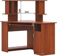 Угловой компьютерный стол СКУ-06 + Н-12 с надставкой, фото 1