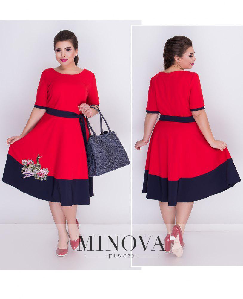 Летнее платье с вышивкой большого размера ТМ Minova р. 50,52,54,56