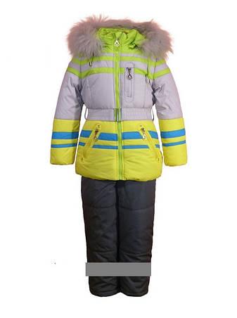 Детский зимний комбинезон для девочки Bilemi  314972  размеры 104-122, фото 2