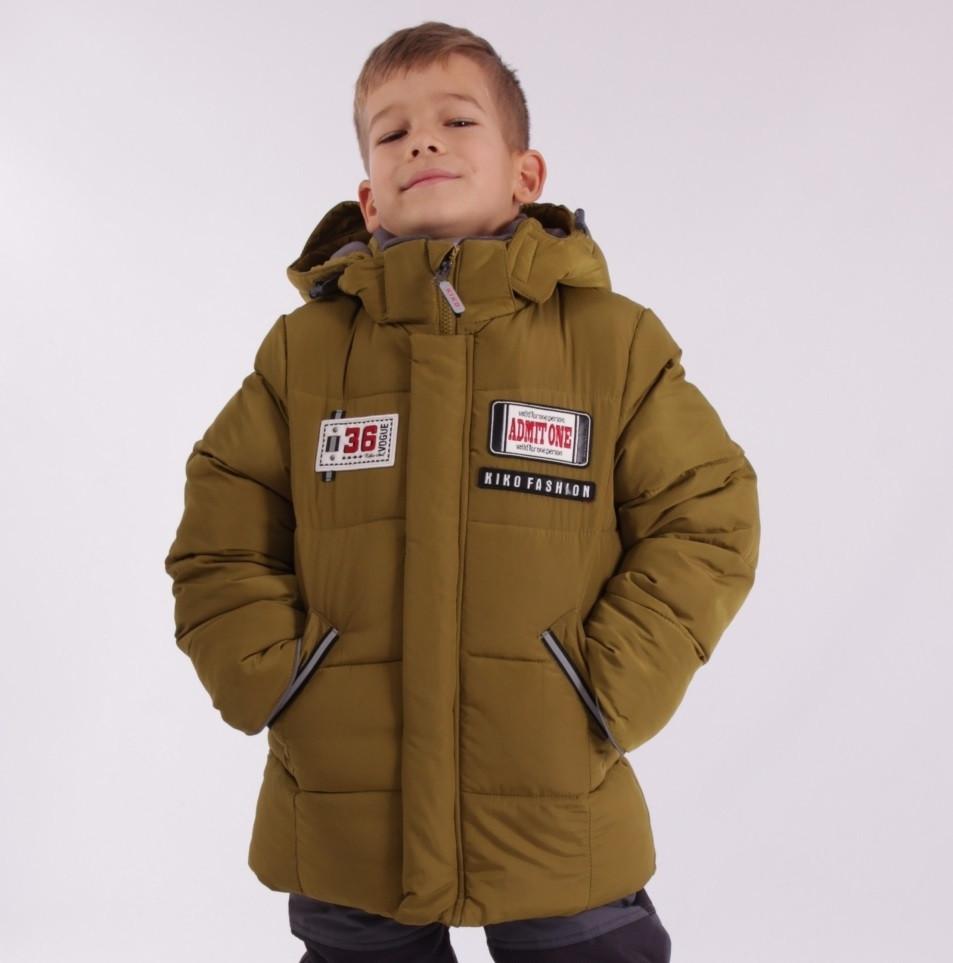 Детский зимний комбинезон для мальчика KIKO 4606, 104-128