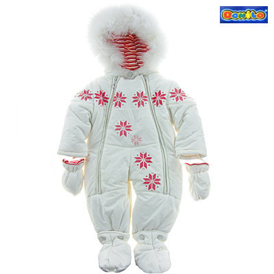 Детский зимний комбинезон-трансформер для девочки Donilo 2984, наполнитель - пух, размеры 68-80