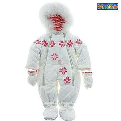 Детский зимний комбинезон-трансформер для девочки Donilo 2984, наполнитель - пух, размеры 68-80, фото 2